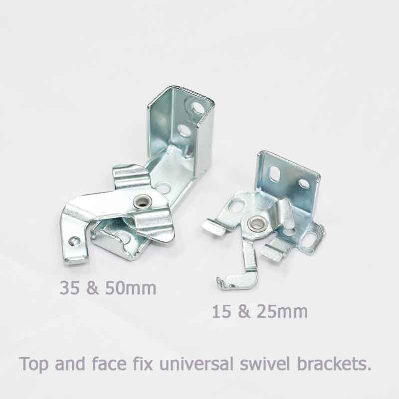 5. Face and top fix metal brackets